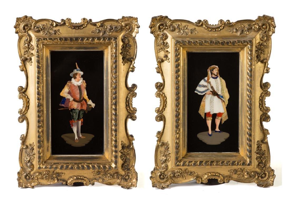 Pair of Italian Pietra Dura Plaques