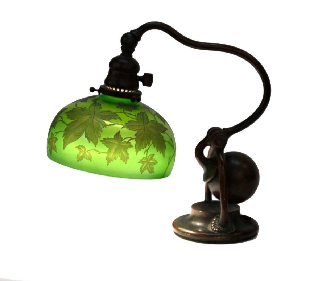 Tiffany Studios NY Counter Balance Lamp with Intaglio