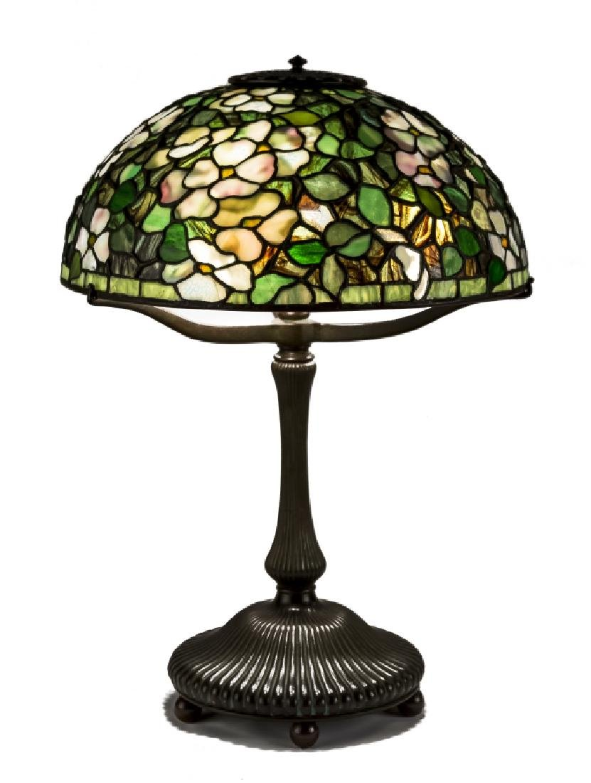 Fine and Rare Tiffany Studios New York Dogwood Leaded