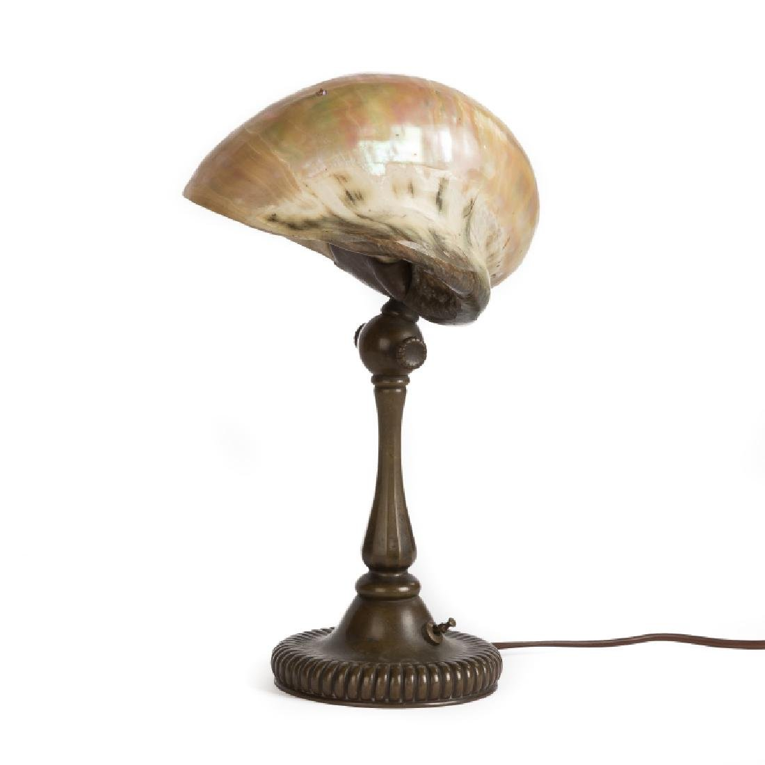 Tiffany Studios Nautilus Shell Desk Lamp