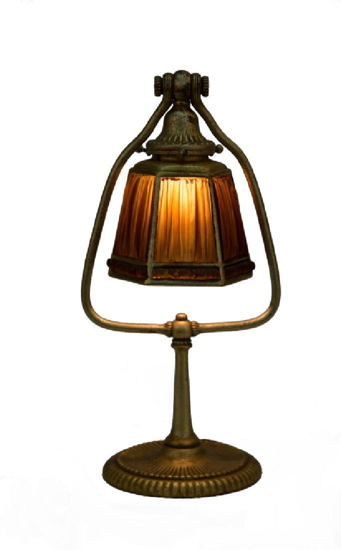 Tiffany Studios Linen Fold Desk Lamp