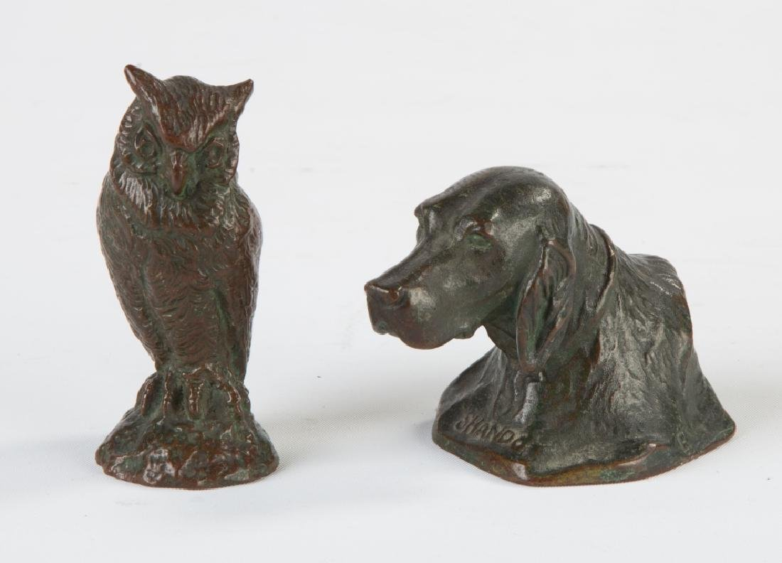 Two Tiffany Studios Bronze Paperweights