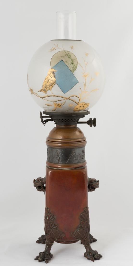 Rare Gorham Aesthetic Period Oil Lamp