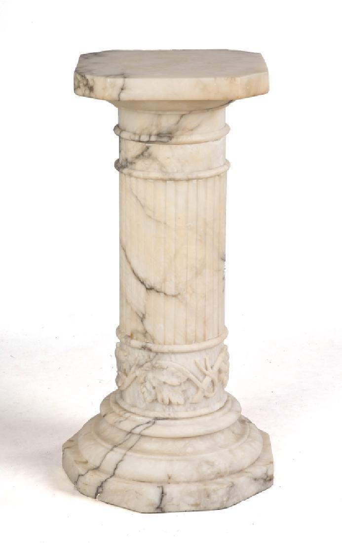 Carved Alabaster Pedestal