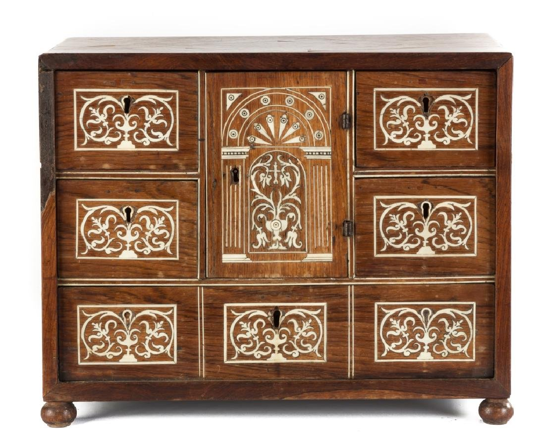 Italian Rosewood Cabinet with Bone Inlay
