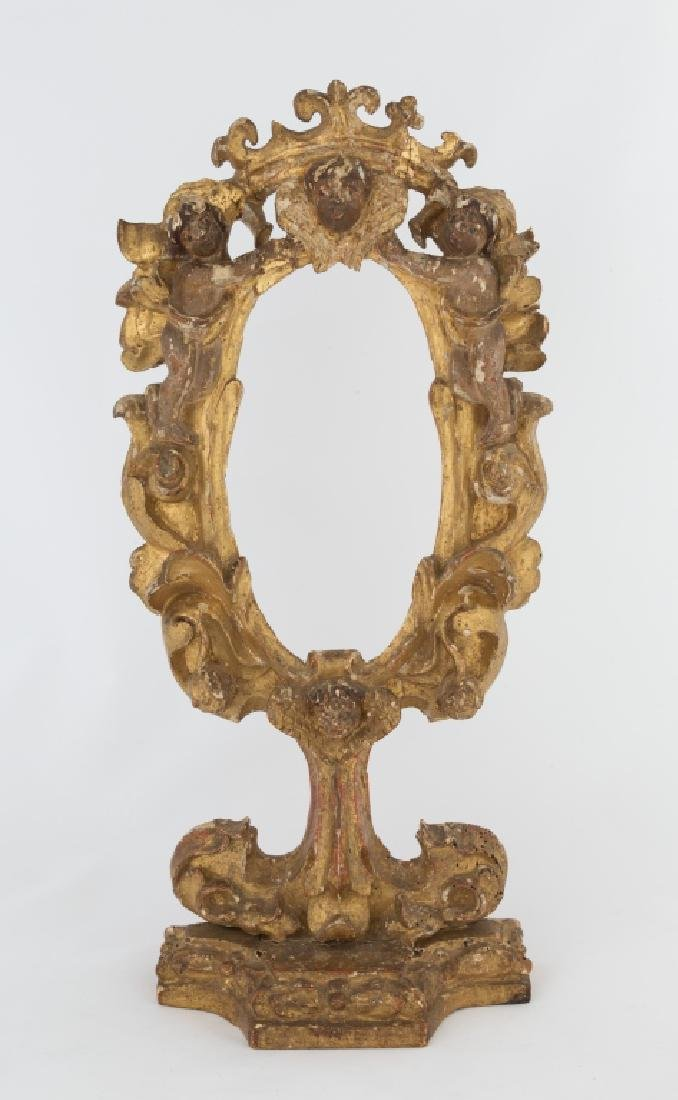 Early Italian Wood Frame on Stand