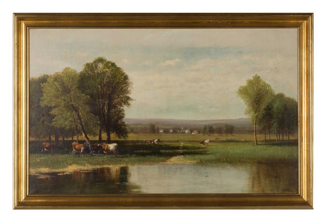 Clinton Loveridge (1824-1915) Cows in Landscape
