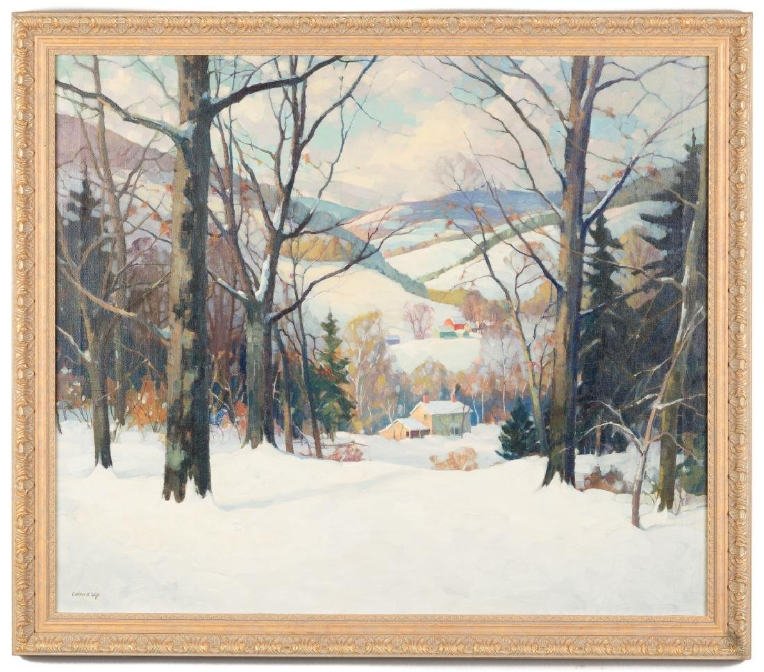 Clifford Ulp (American, 1885-1957) Winter Landscape