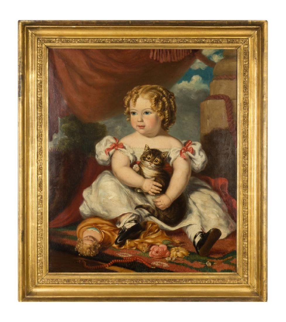 Portrait of a Young Girl with Cat