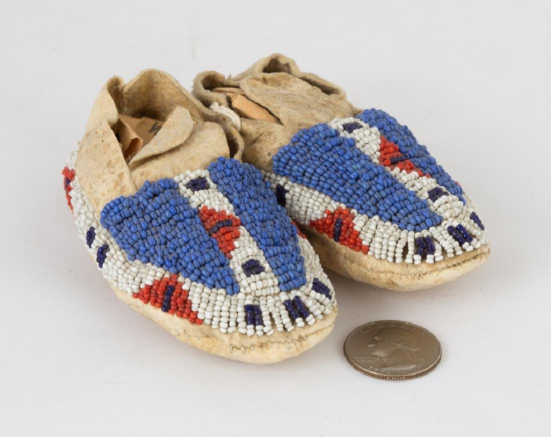 Pair of Sioux Baby's Moccasins