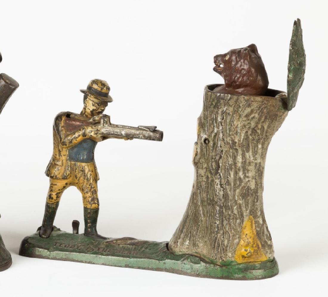 Teddy and The Bear Cast Iron Mechanical Bank