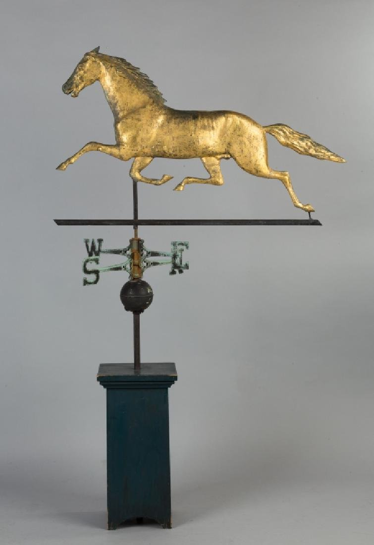 Running Horse Copper Weathervane - 2