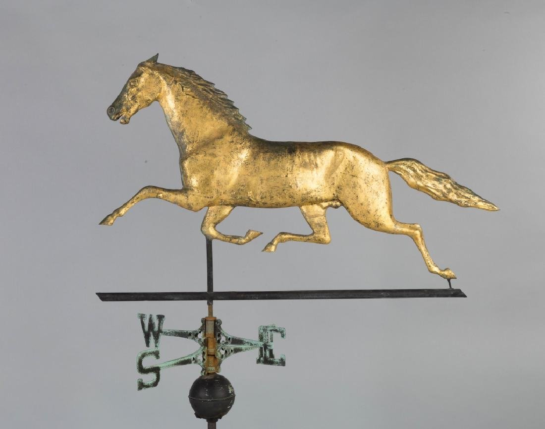 Running Horse Copper Weathervane - 3