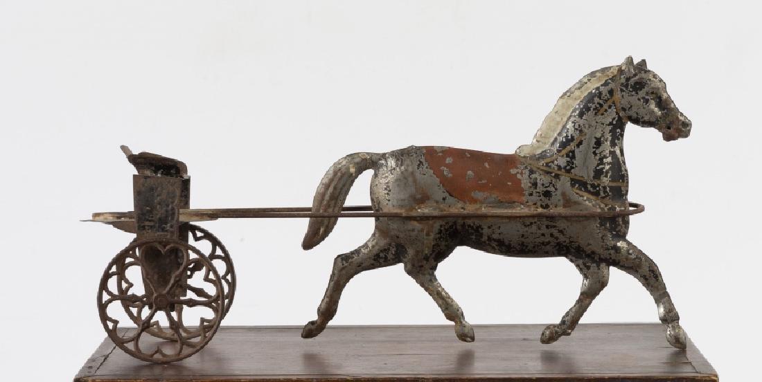 Painted Tin Horse Drawn Cart