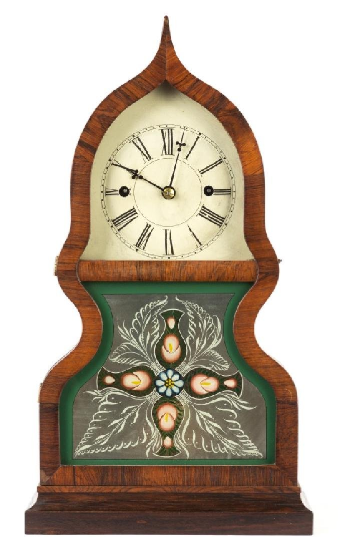 Fine J.C. Brown Acorn Shelf Clock