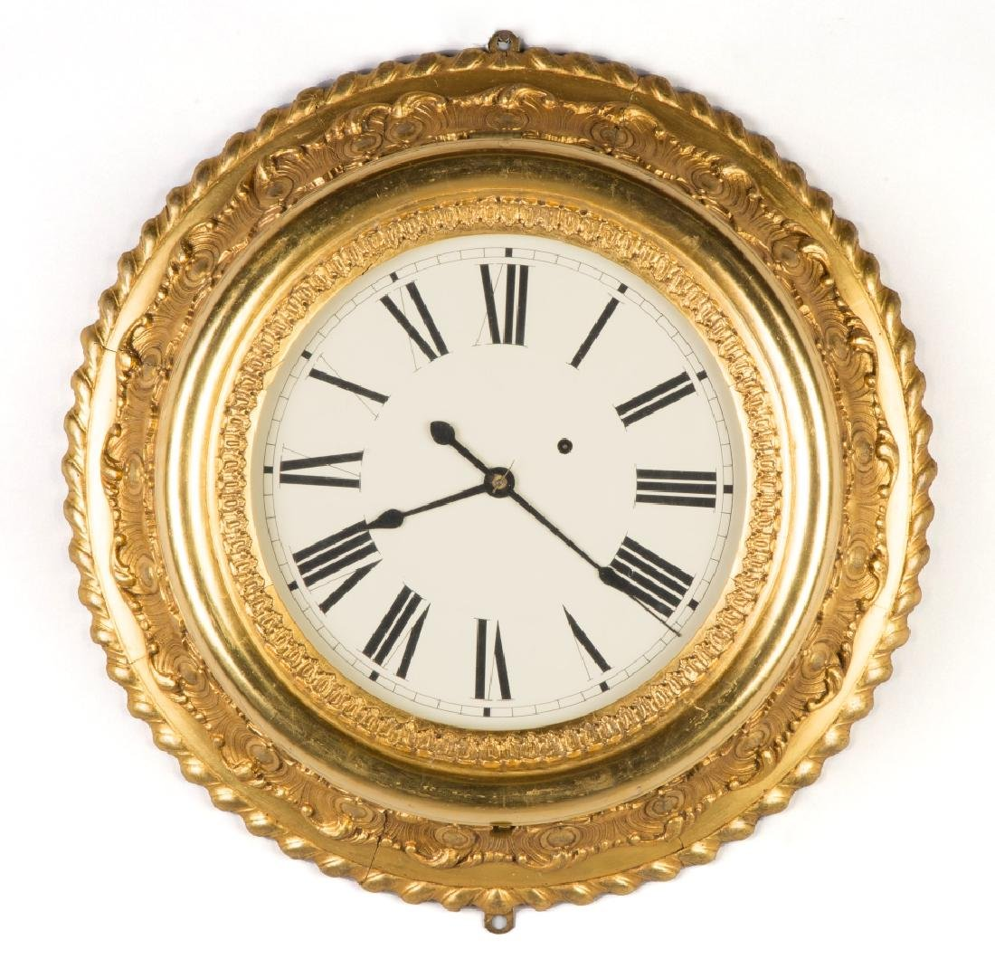 Brewster and Ingram Gilt Gallery Clock