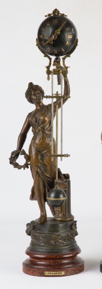 "French Ball Swinger Clock ""Progress"""