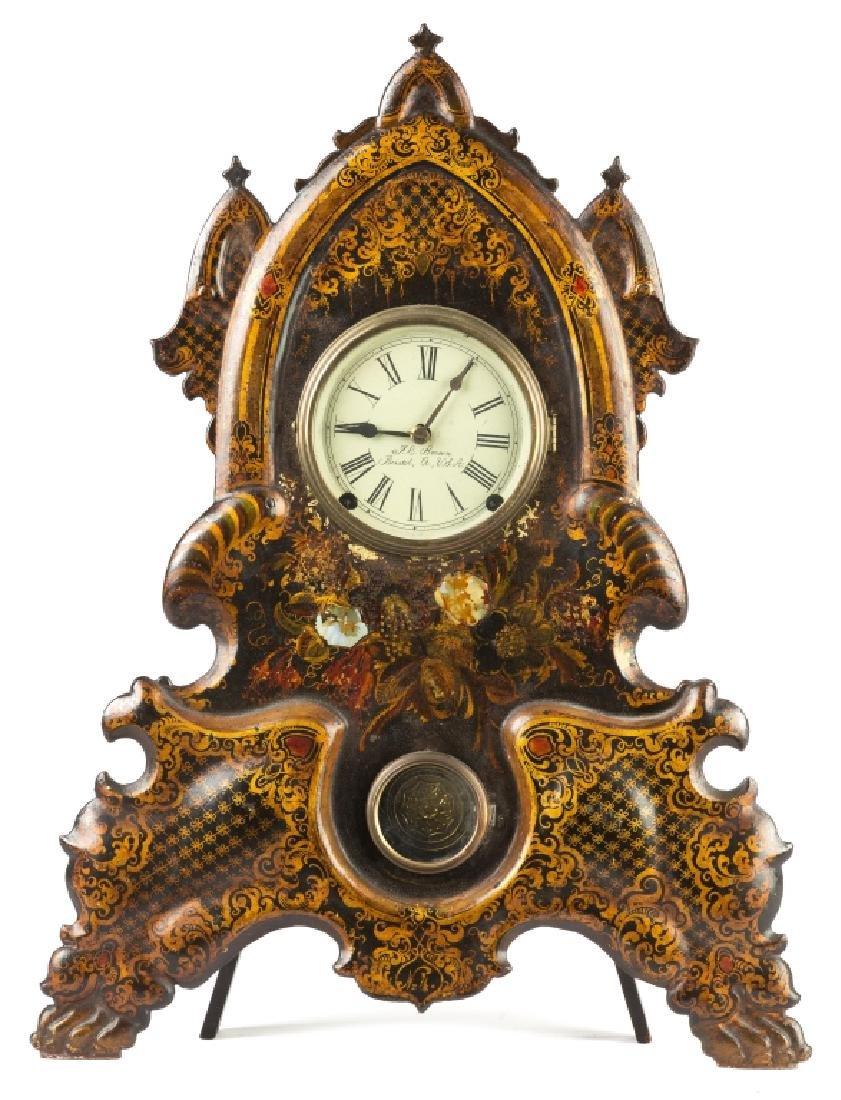 J. C. Brown Iron Front Shelf Clock