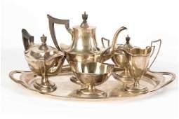 Gorham Six Piece Sterling Silver Tea Set
