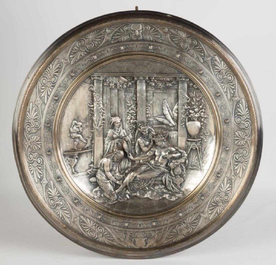 Relief Silver Plated Plaque