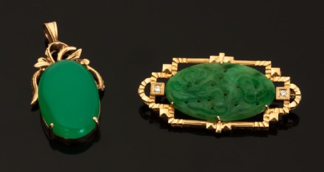 Jade and Jadeite Pendants - 4