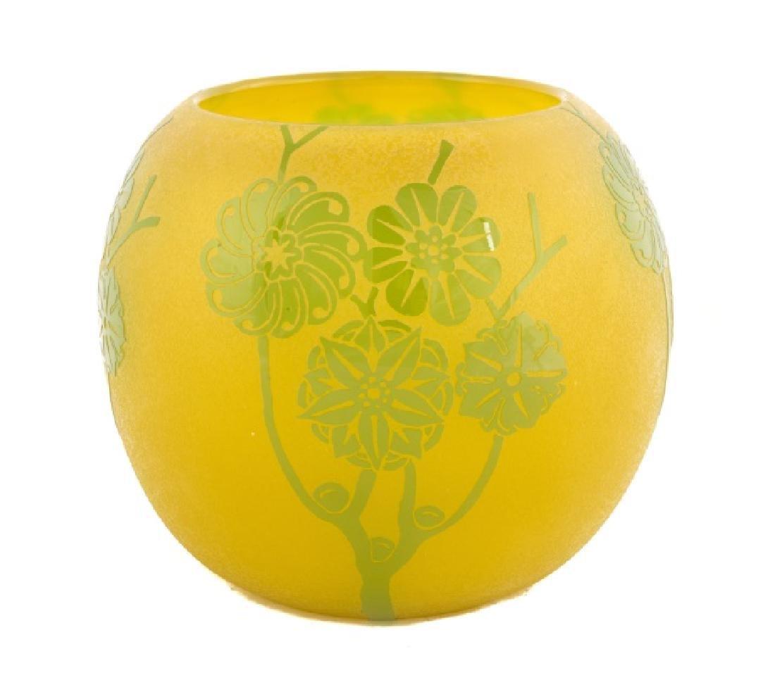 Stueben Green Jade to Yellow
