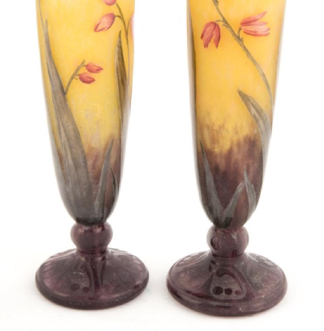 Daum Nancy Matched Pair of Cameo Vases - 2