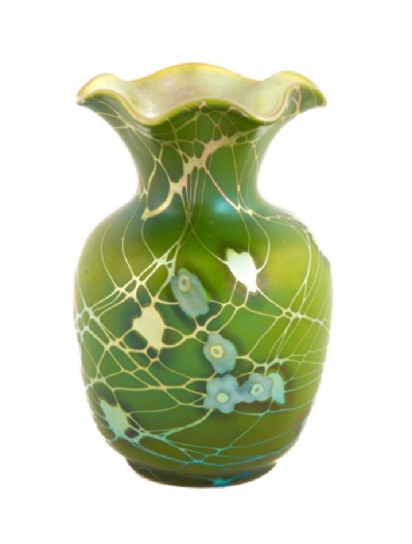 Steuben Aurene Decorated Vase with Millefiori