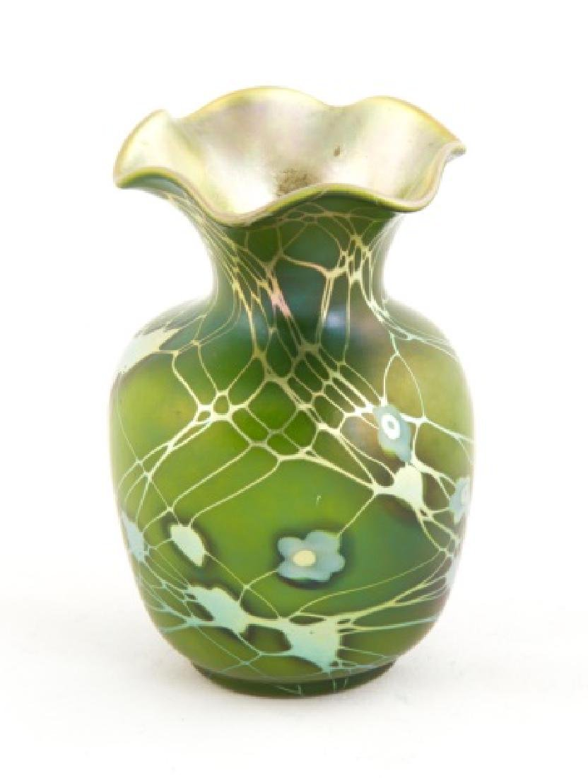 Steuben Aurene Decorated Vase with Millefiori - 2