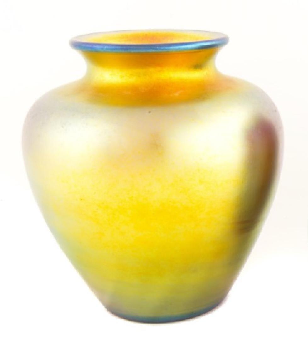 Steuben Gold Aurene Vase