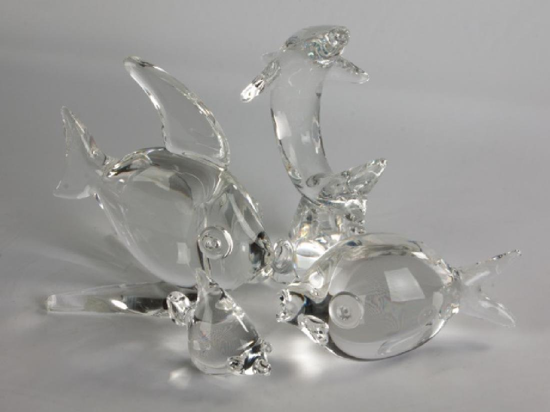 Group of 4 Steuben Crystal Fish - 2