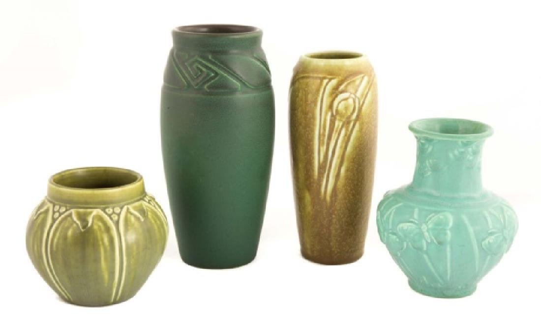 Four Rookwood Art Pottery Vases