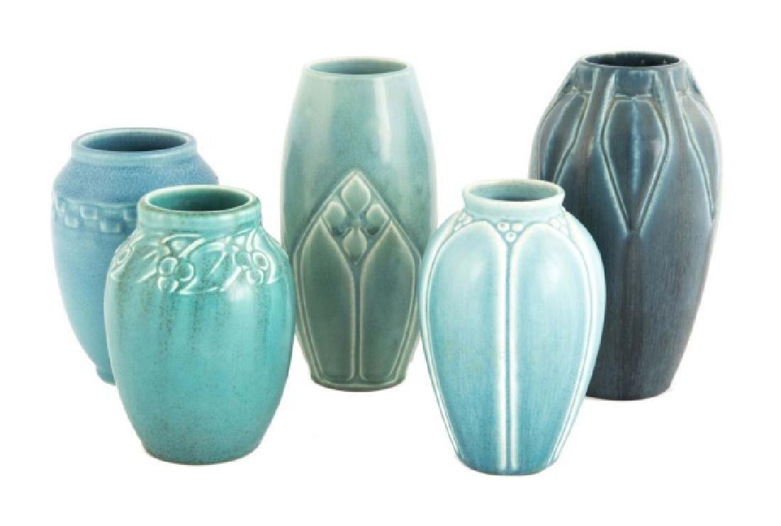 Five Rookwood Art Pottery Vases