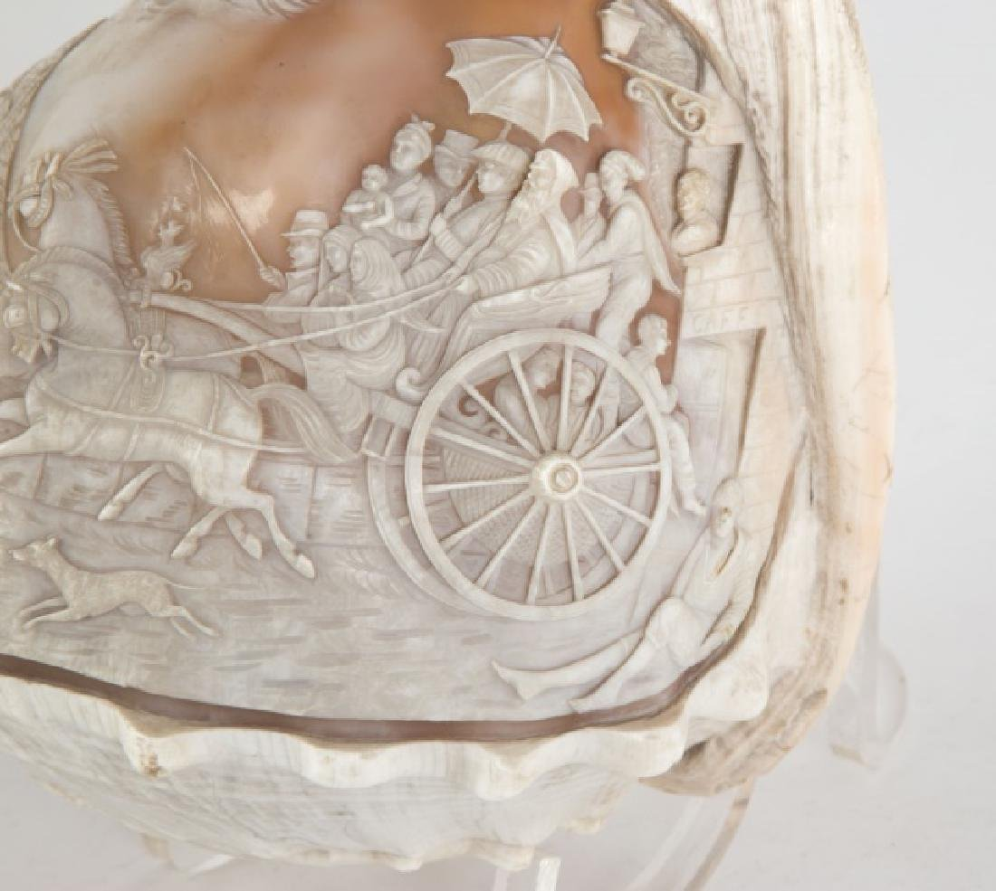 Pair of 19th Century Carved Conch Shells - 2