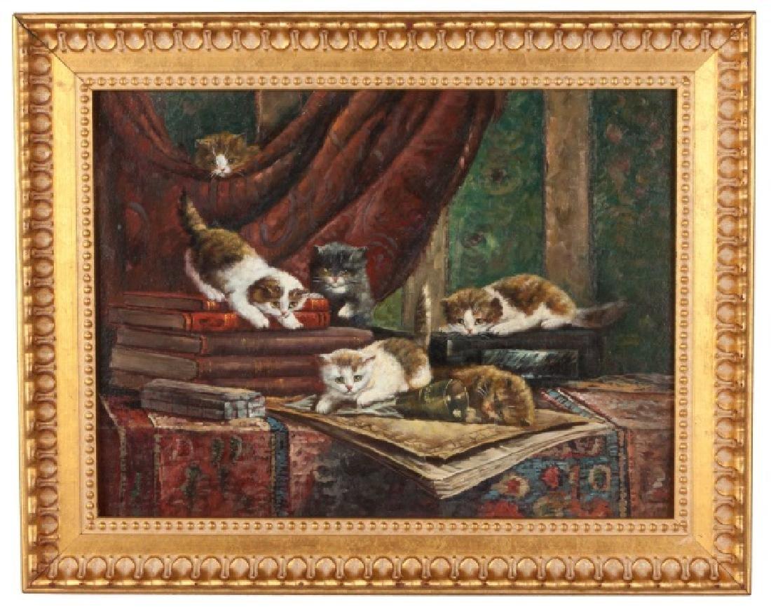"""Cornelis Raaphorst (Dutch, 1875-1954) """"Cats"""""""