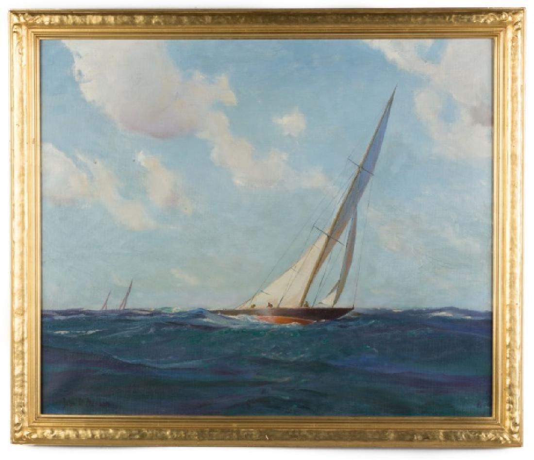 John P. Benson (American, 1865-1947) Sailboat