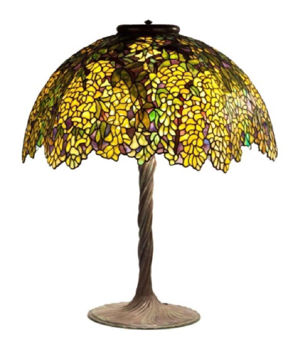 Laburnum Leaded Glass Table Lamp