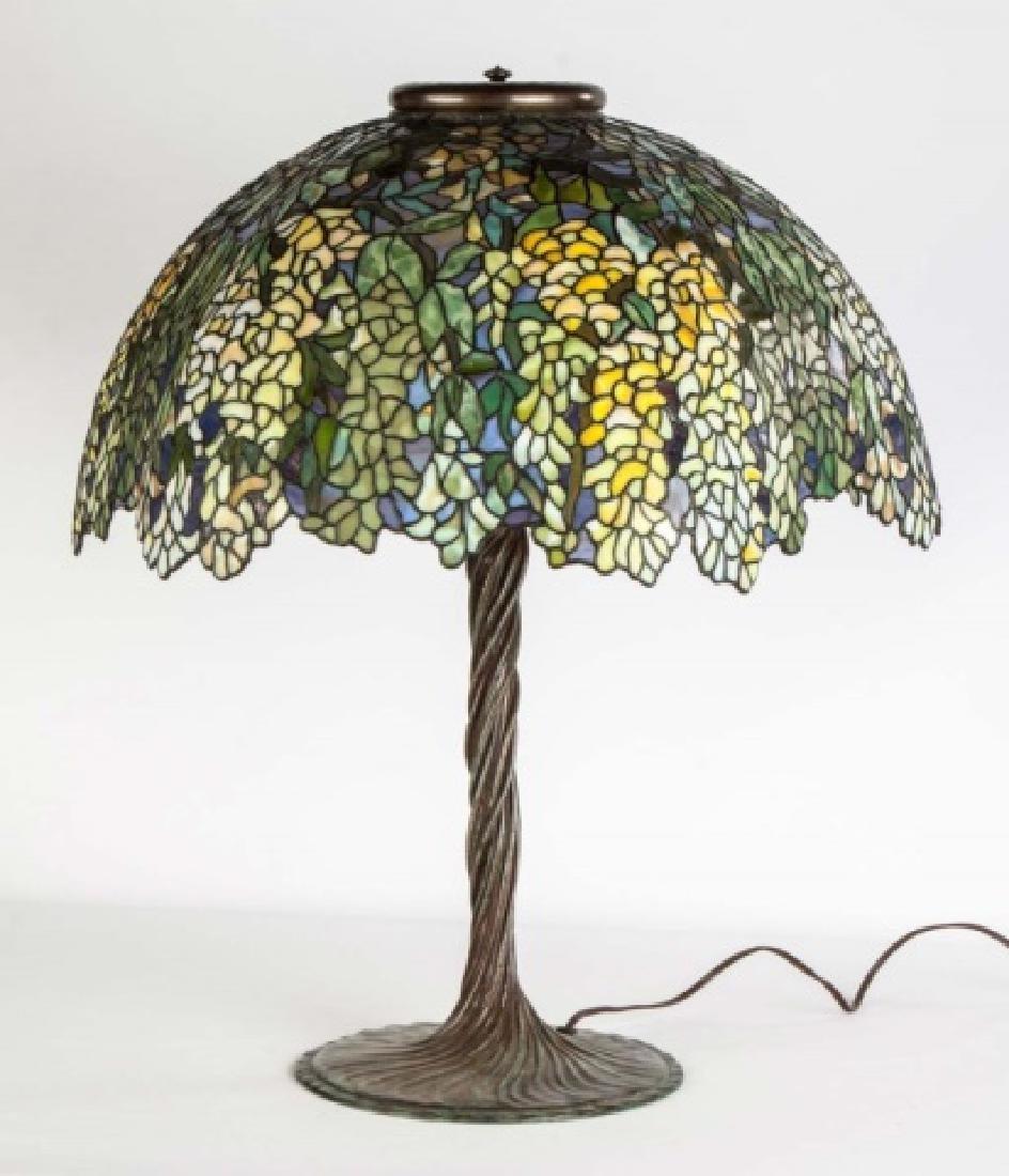 Laburnum Leaded Glass Table Lamp - 3