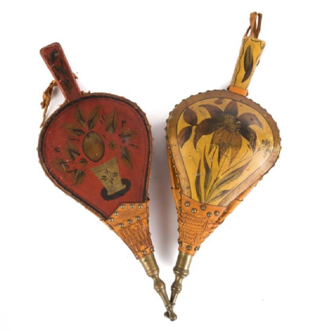 Two Paint Decorated Bellows