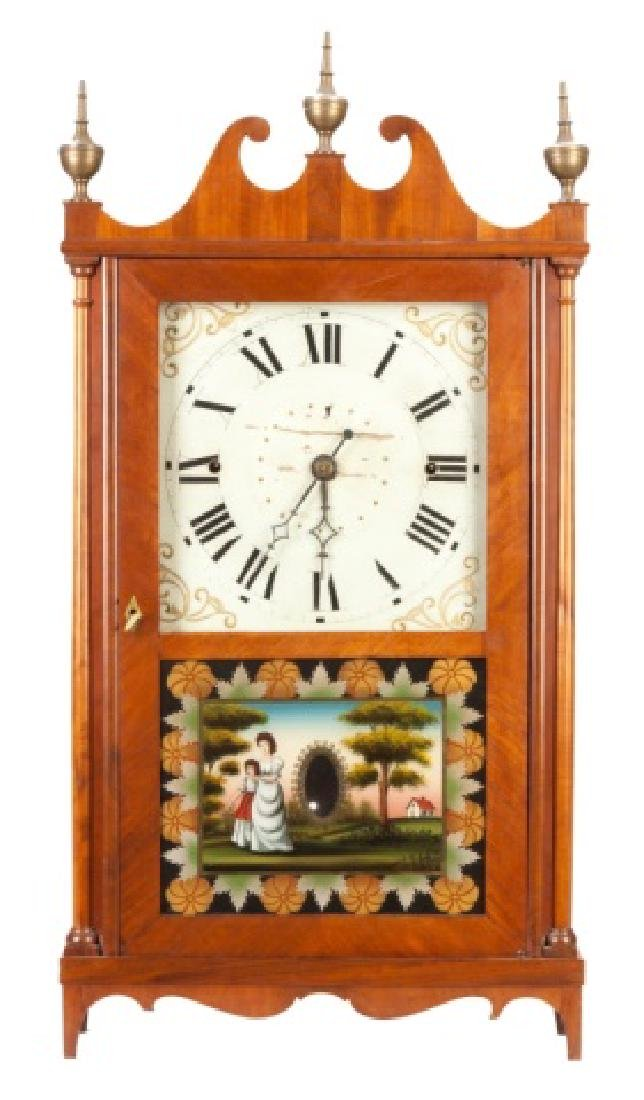 Norris Worth Pillar & Scroll Shelf Clock