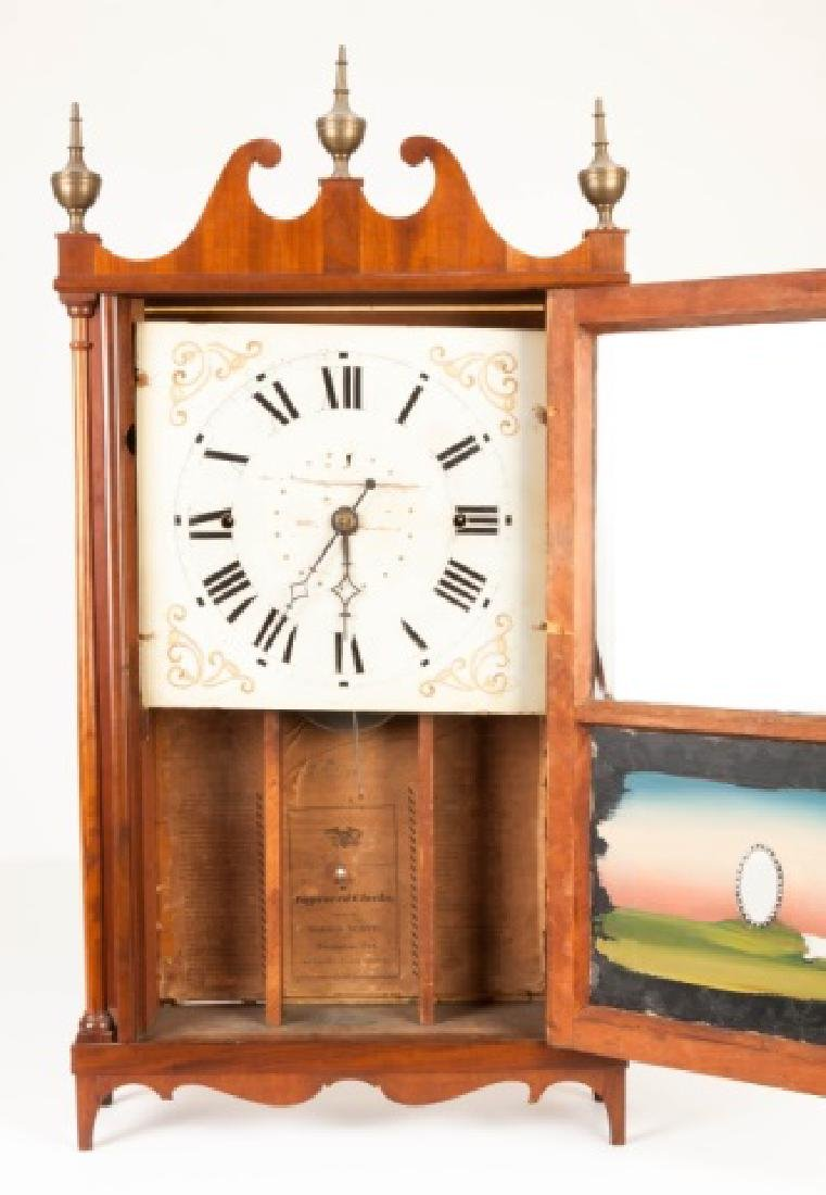 Norris Worth Pillar & Scroll Shelf Clock - 2