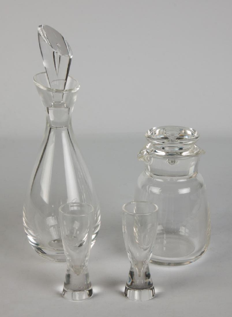 Group Of Steuben Crystal Decanters U0026 Glasses