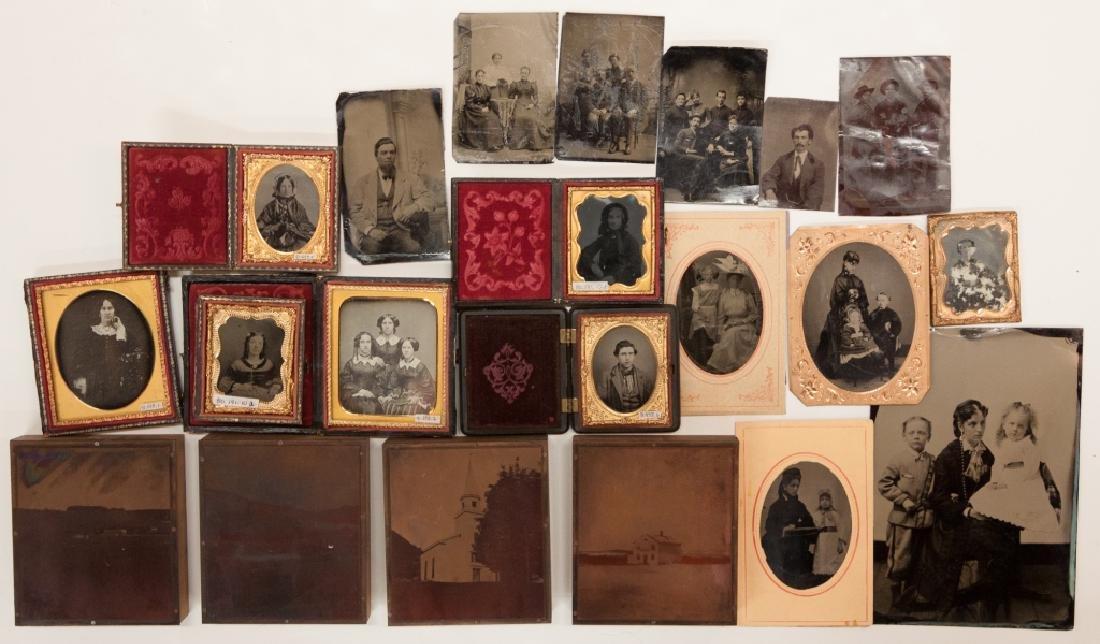 Group of Vintage Photographs, Daguerreotypes , - 3