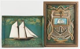 Two Vintage Nautical Shadow Boxes