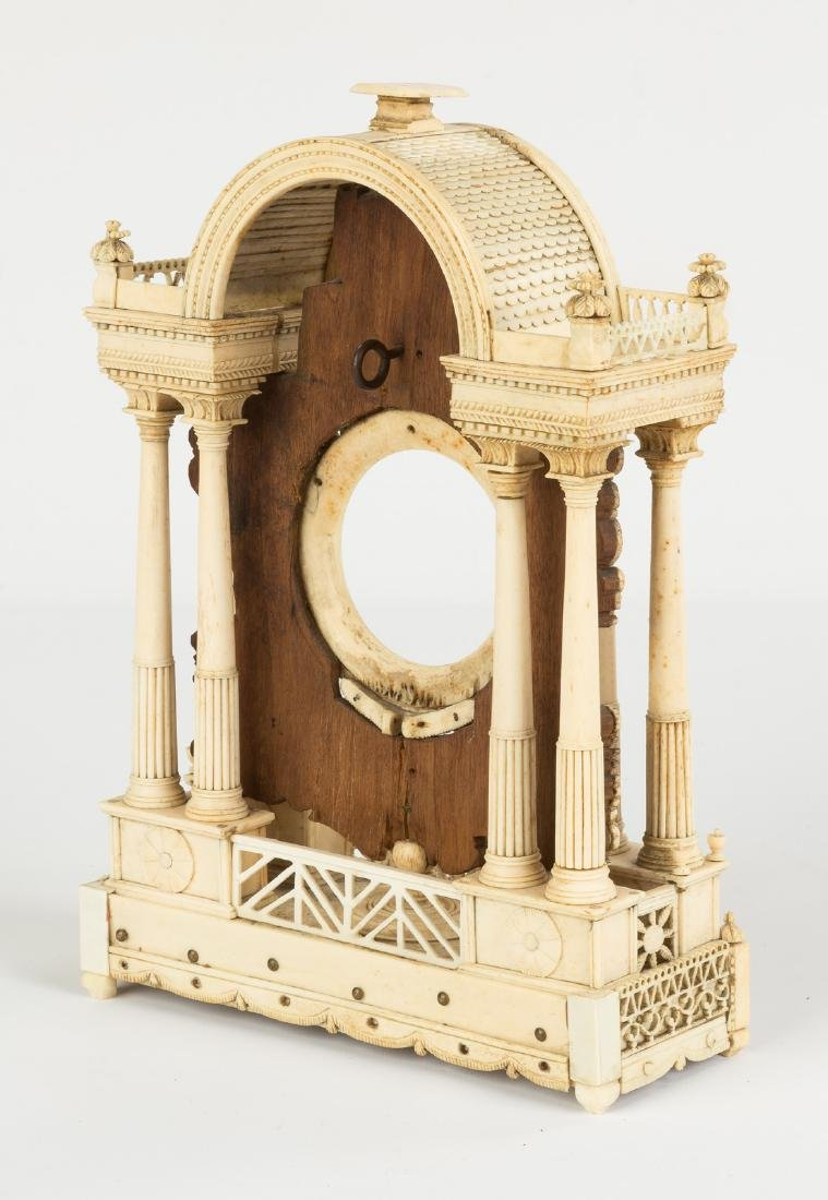 19th Century Finely Carved Bone & Wood Watch Hutch - 2