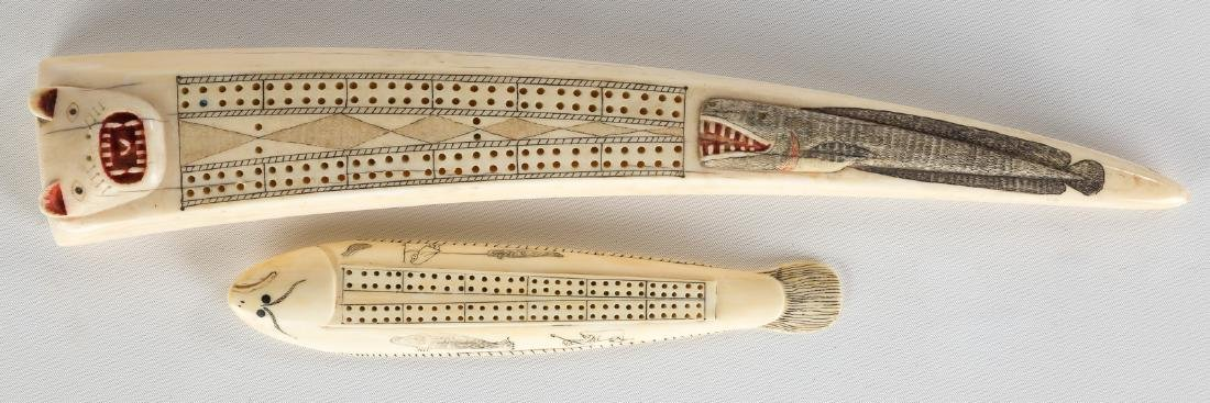 Inuit Walrus Tusk Cribbage Boards