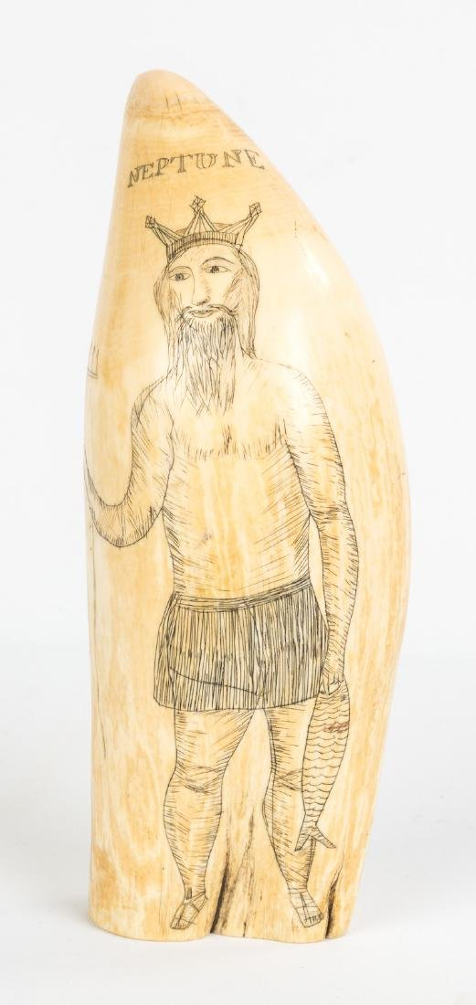 19th Century Scrimshaw Whales Tooth