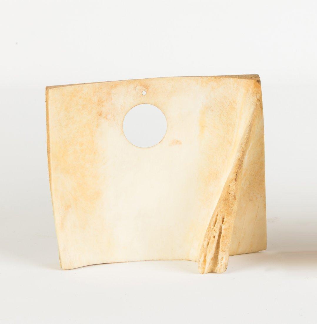 19th Century Whale Bone Scrimshaw Watch Hutch - 2