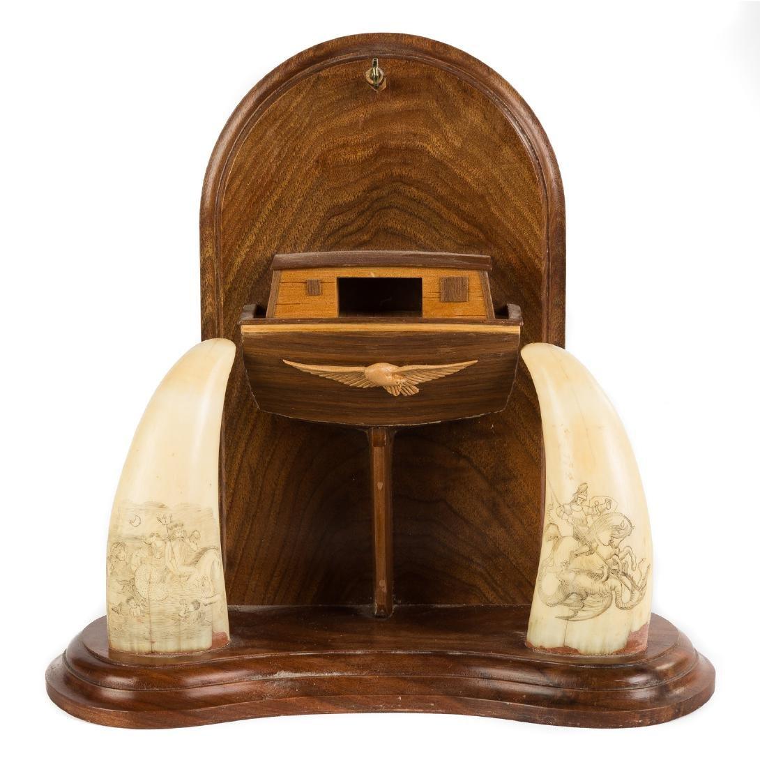19th Century Scrimshaw & Custom Watch Hutch