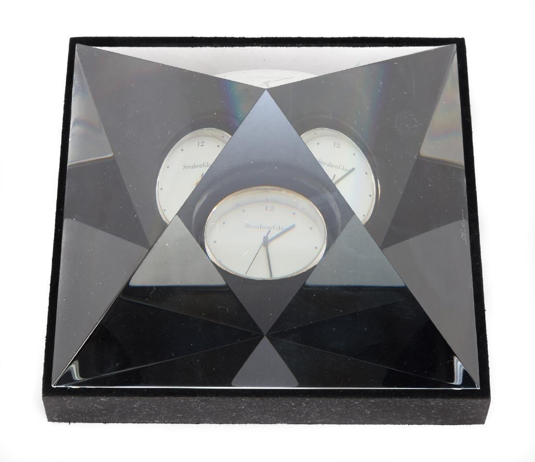 Steuben Pyramid of Time Clock